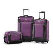American Tourister Fieldbrook XLT 3 Piece Set in the color Purple/Black.