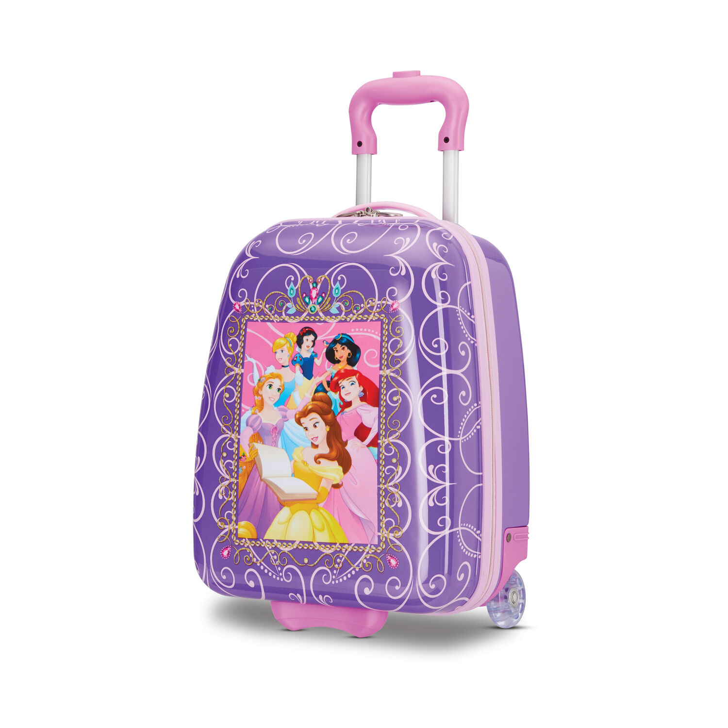 """American Tourister Disney Kids 16"""" Hardside Upright in the color Princess."""