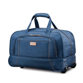 "American Tourister Belle Voyage 20"" Wheeled Duffel in the color Blue Denim."