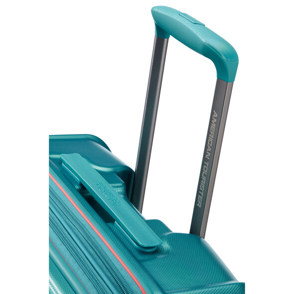 "American Tourister Technum 24"" Spinner in the color Jade Green."