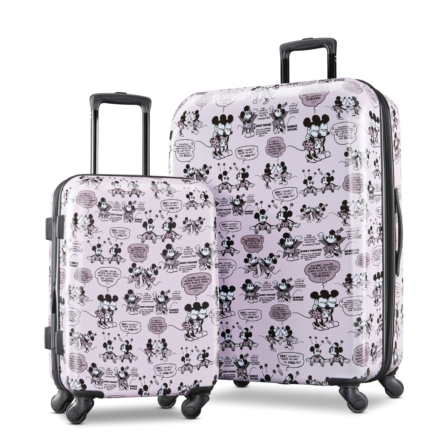 American Tourister Disney Mickey and Minnie 2 Piece Set in the color Mickey/Minnie Kiss.