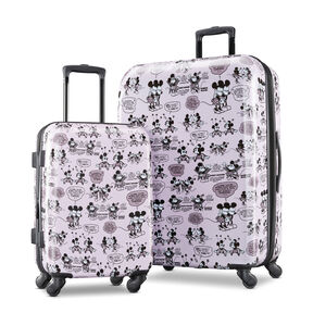 American Tourister Disney 2 Piece Set in the color Mickey/Minnie Kiss.