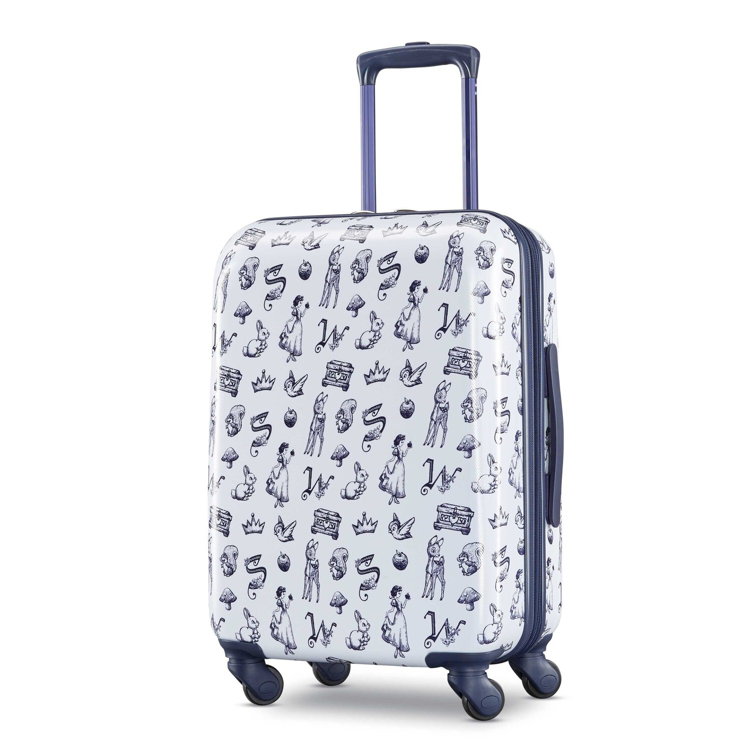 "American Tourister Disney Snow White 21"" Spinner in the color Blue/White."