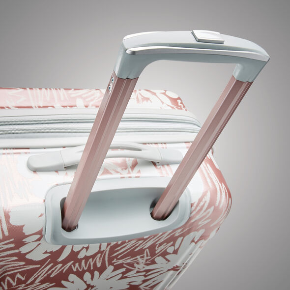 "American Tourister Moonlight 21"" Spinner in the color Ascending Gardens Rose Gold."