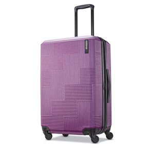 "American Tourister Stratum XLT 24"" Spinner in the color Plum."