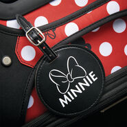 "American Tourister Disney Minnie Dots 20"" Spinner in the color Minnie Dots."