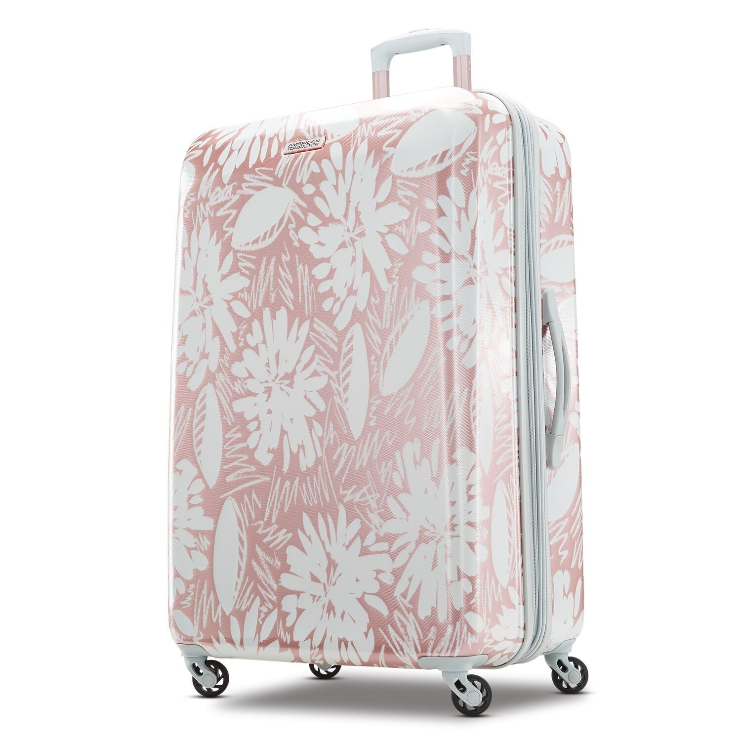 "American Tourister Moonlight 28"" Spinner in the color Ascending Gardens Rose Gold."