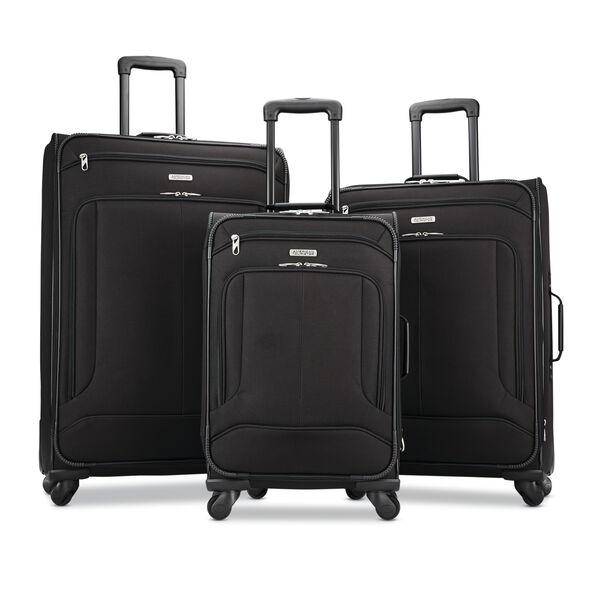 American Tourister Pop Max 3PC Set in the color Black.