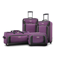 American Tourister Fieldbrook XLT 4 Piece Set in the color Purple/Black.