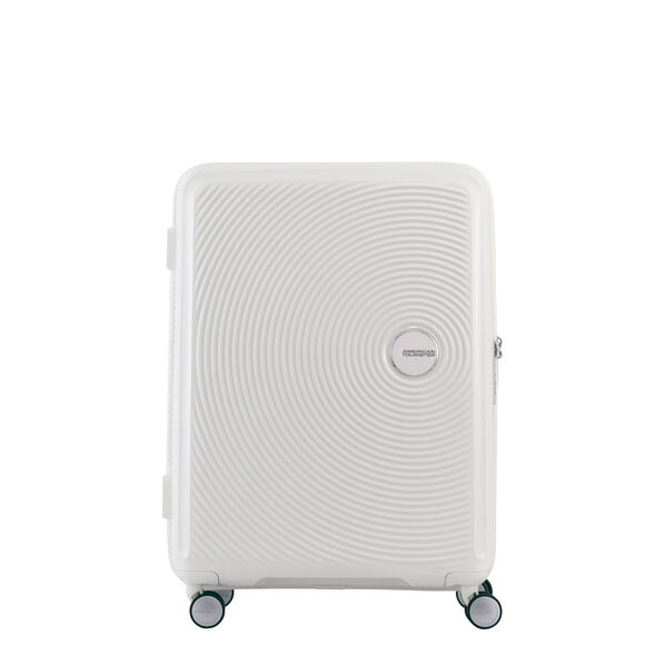 "American Tourister Curio 29"" Spinner in the color White."