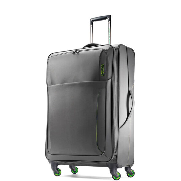 """American Tourister LiteSPN 24"""" Spinner in the color Grey/ Green."""