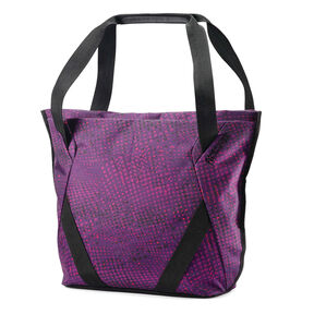 American Tourister Zoom Shopper Tote in the color Purple Dots.