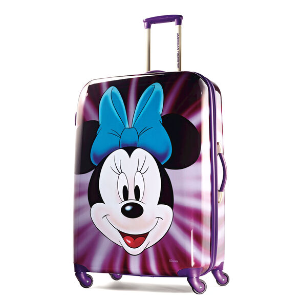 """American Tourister Disney Minnie Mouse 28"""" Hardside Spinner in the color Minnie Mouse Face."""