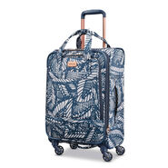 "American Tourister Belle Voyage 21"" Spinner in the color Burst Floral Indigo Sand."