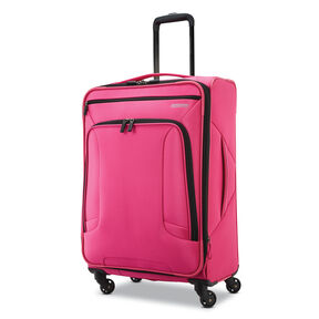 "American Tourister 4 Kix 25"" Spinner in the color Pink."