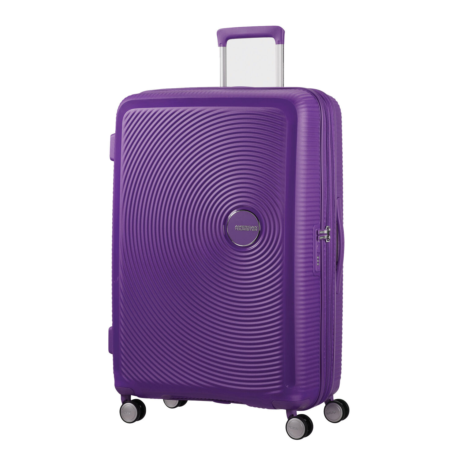 """American Tourister Curio 29"""" Spinner in the color Purple."""