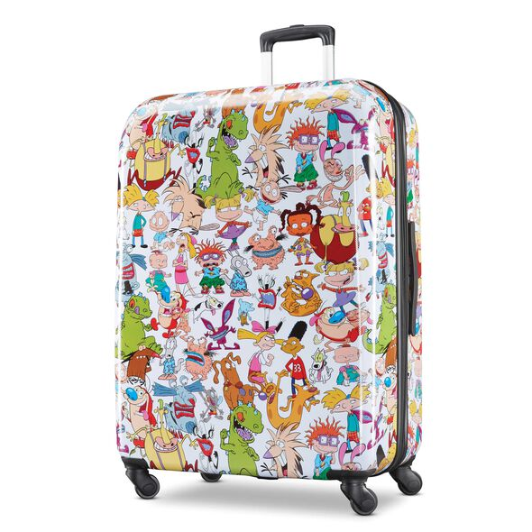 "American Tourister Nickelodeon 90's Mash Up 28"" Spinner in the color Nick 90's."
