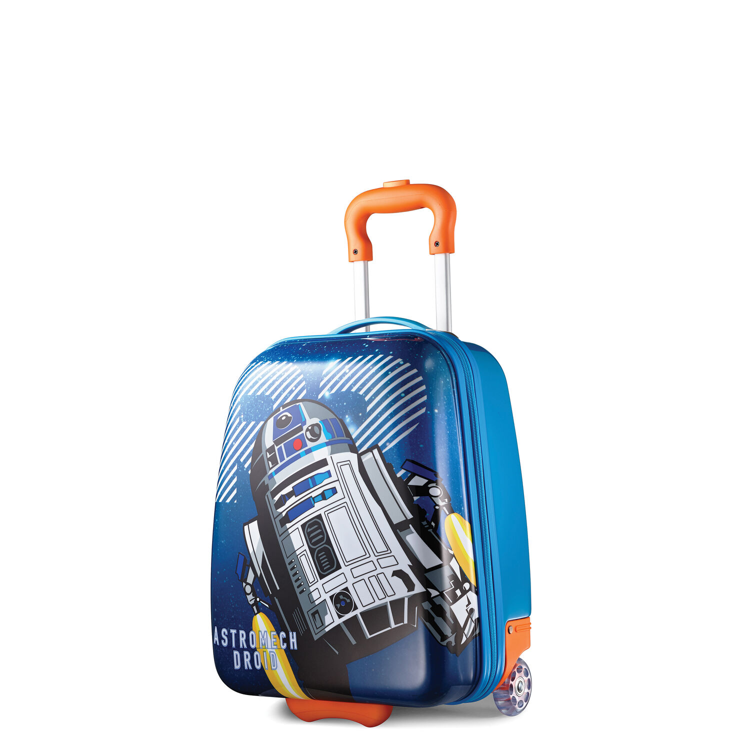 """American Tourister Star Wars 18"""" Hardside Upright in the color R2D2."""
