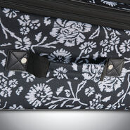 American Tourister Riverbend 4 Piece Set in the color Black/White Floral Print.