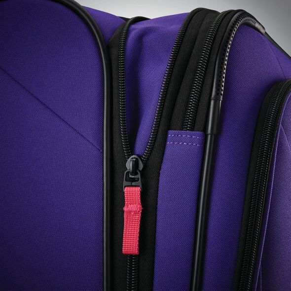 "American Tourister Reflexx 19"" Spinner in the color Fearless Purple."