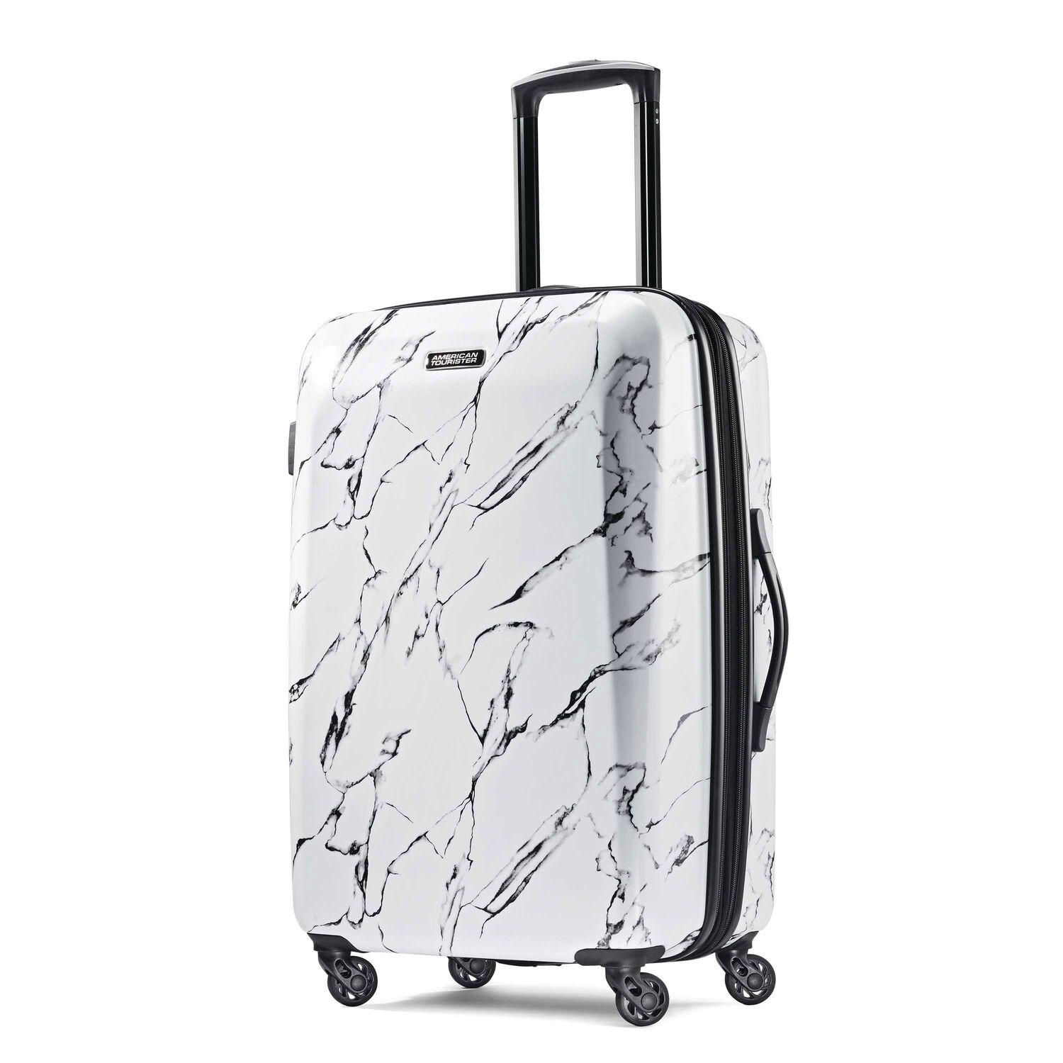 """American Tourister Moonlight 24"""" Spinner in the color Marble."""