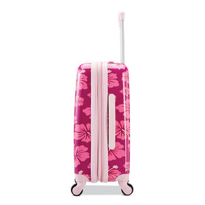American Tourister Life Is Good Spinner Carry-On in the color Hibiscus.
