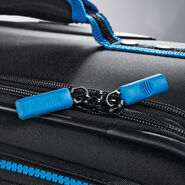 "American Tourister EXO Eclipse 24"" Spinner in the color Black/Blue."