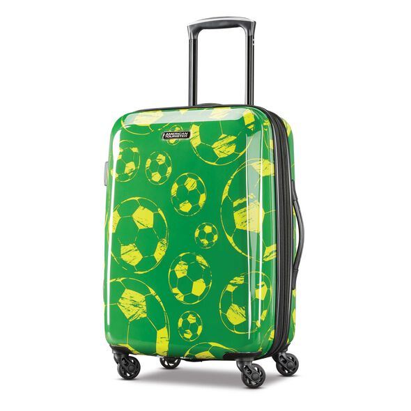 "American Tourister Moonlight 21"" Spinner in the color Green/Yellow."