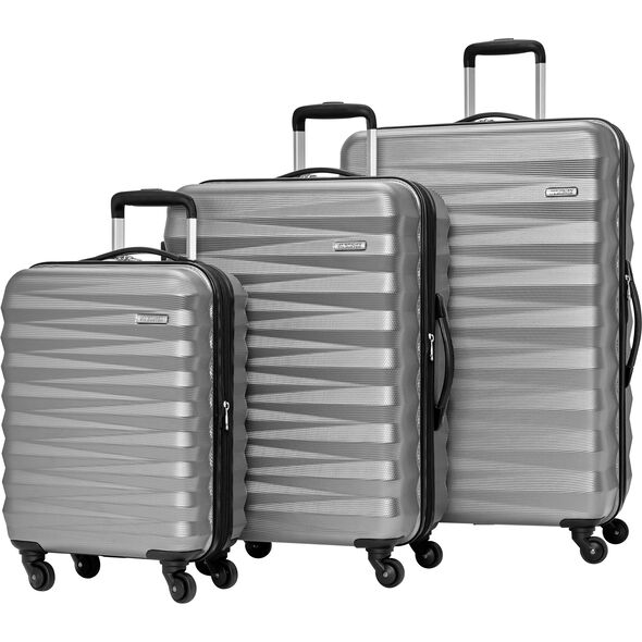 American Tourister Triumph NX 3 Piece Set in the color Silver.