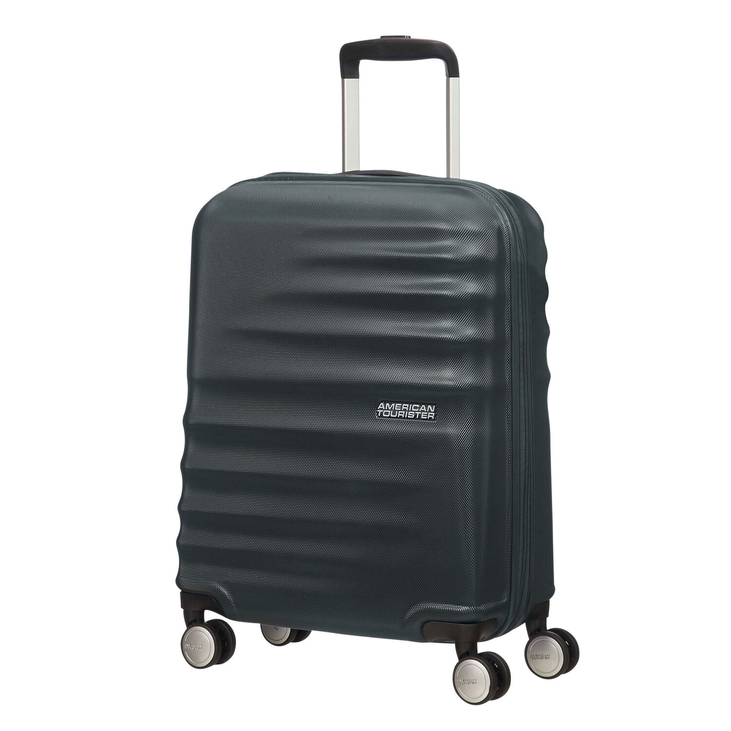"""American Tourister Wavebreaker 20"""" Spinner in the color Nightshade."""
