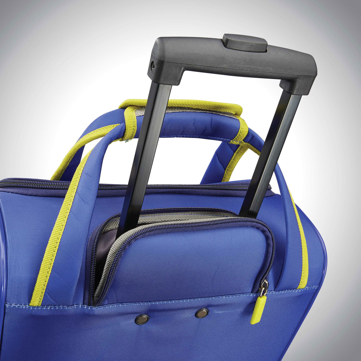88003e7c6 American Tourister Sonic Rolling Tote in the color Blue/Lime.