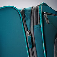 "American Tourister 4 Kix 25"" Spinner in the color Teal/Grey."