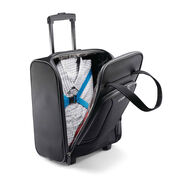 American Tourister 4 Kix Rolling Tote in the color Black/Grey.