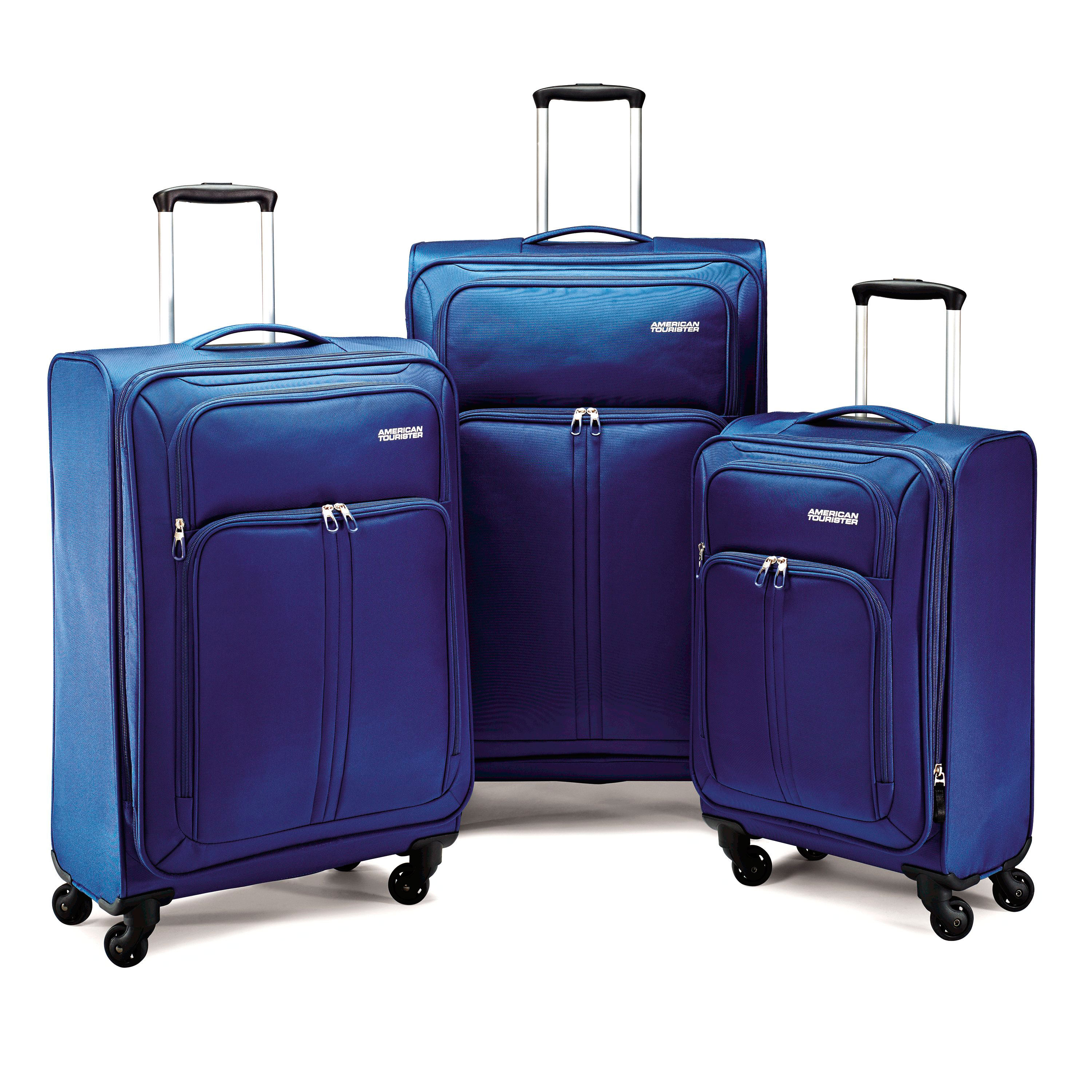 American tourister 3 piece spinner luggage set