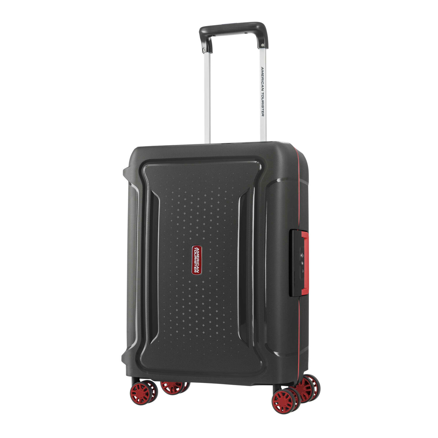 """American Tourister Tribus 20"""" Spinner in the color Black."""