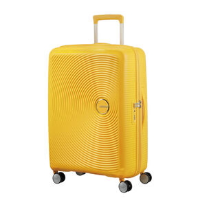 "American Tourister Curio 25"" Spinner in the color Golden Yellow."