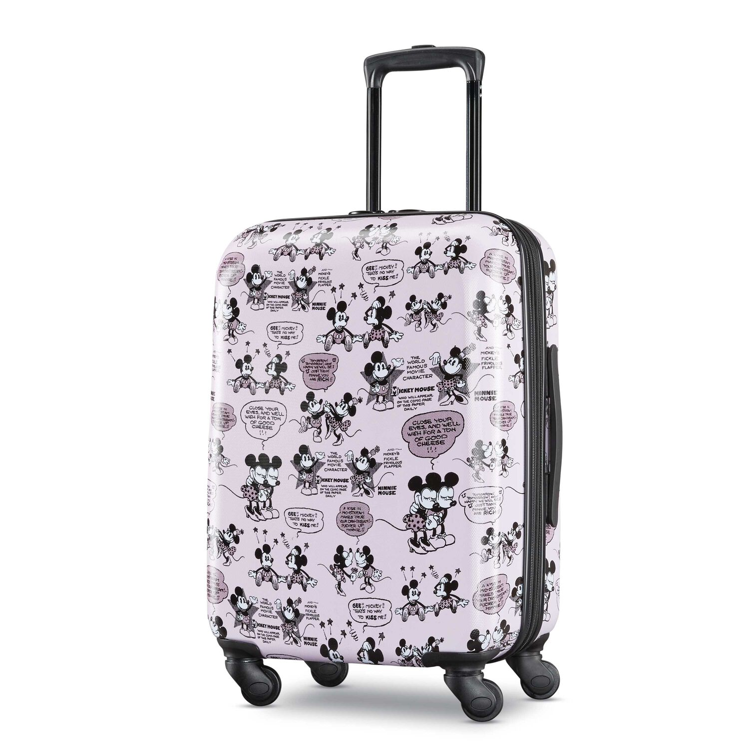 """American Tourister Disney Mickey & Minnie Romance 21"""" Spinner in the color Mickey/Minnie Kiss."""