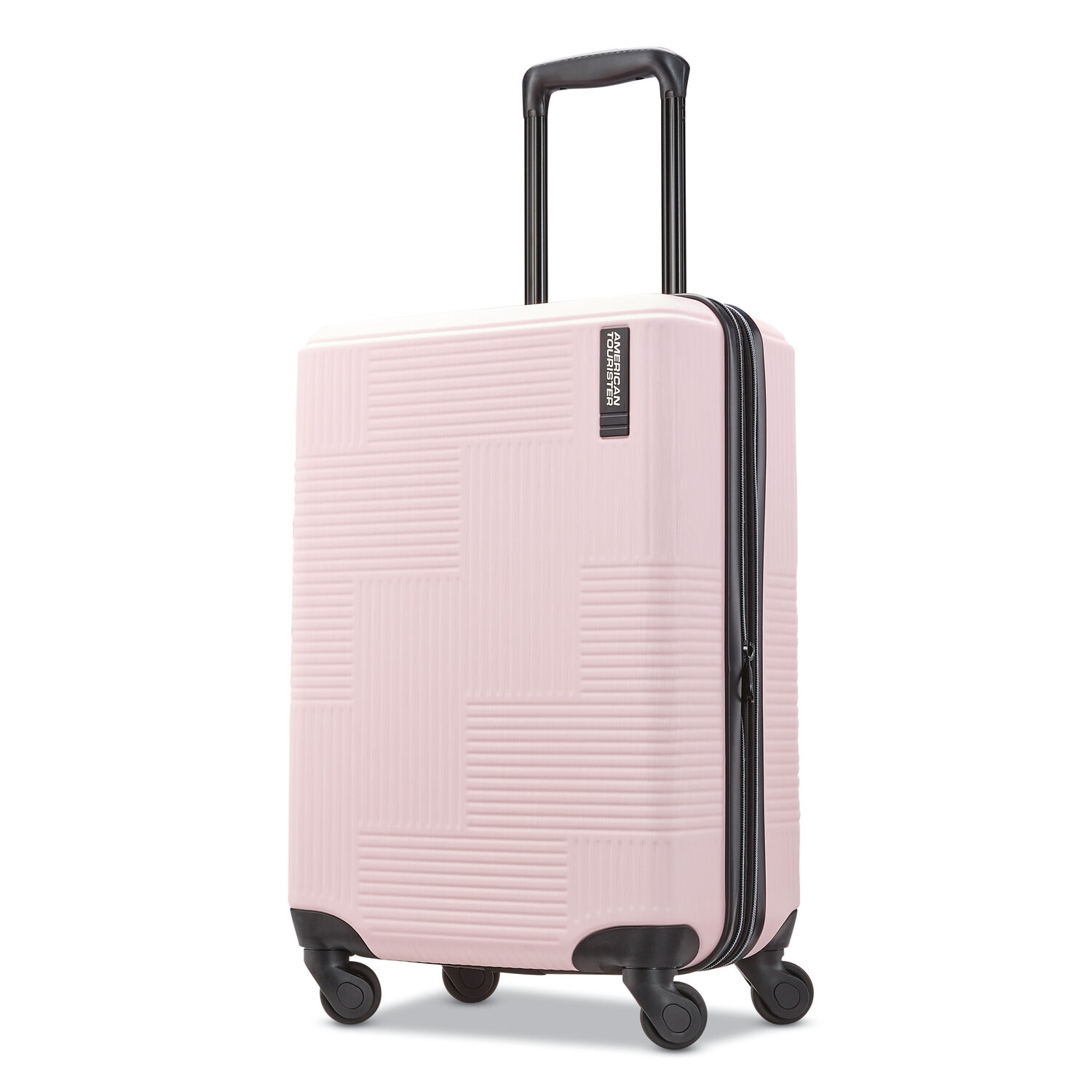 """American Tourister Stratum XLT 20"""" Spinner in the color Petal Pink."""