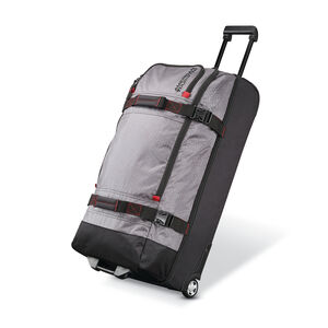 "Aeropak 30"" Wheeled Duffel in the color Charcoal/Red."