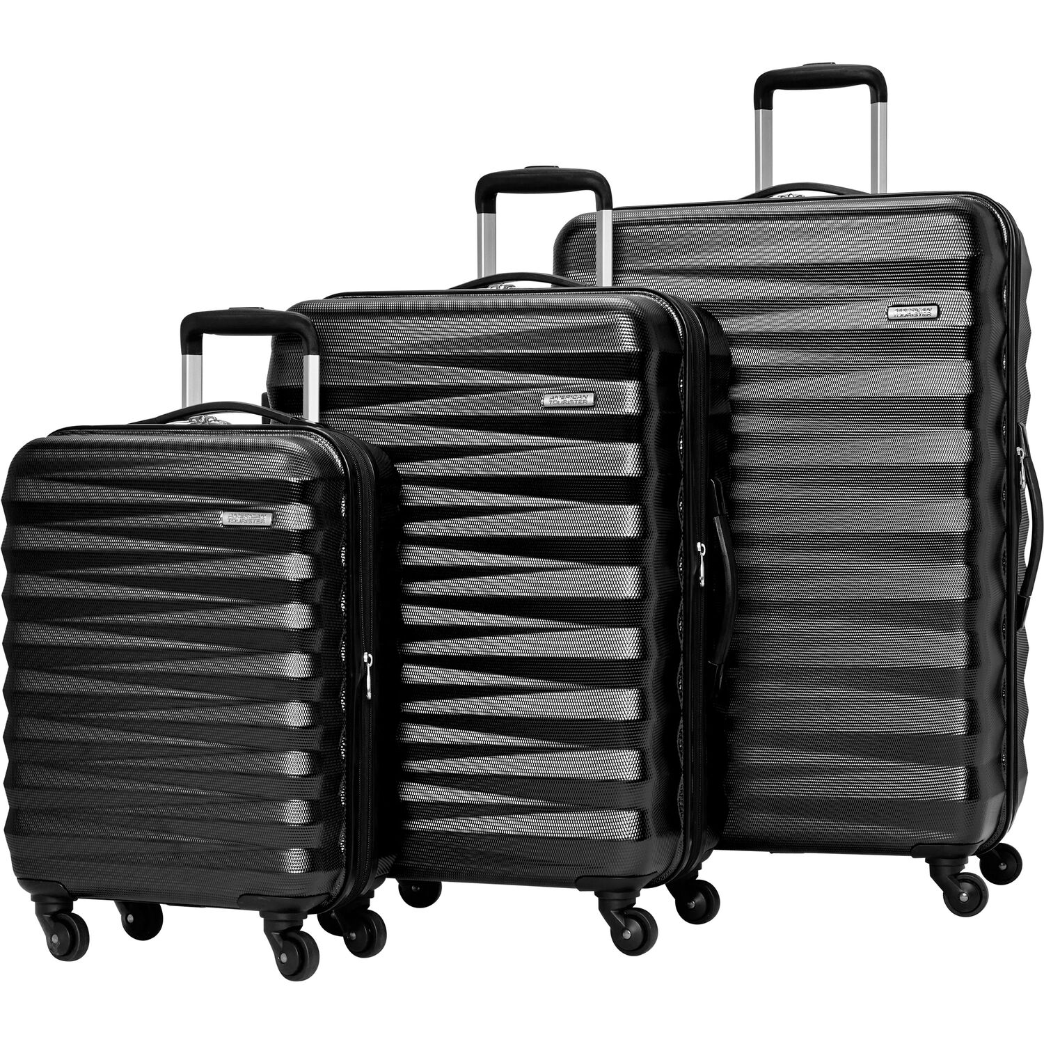 American Tourister Triumph NX 3 Piece Set in the color Black.