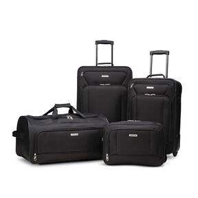 American Tourister Fieldbrook XLT 4 Piece Set in the color Black.