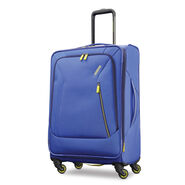 """American Tourister Sonic 25"""" Spinner in the color Blue/Lime."""
