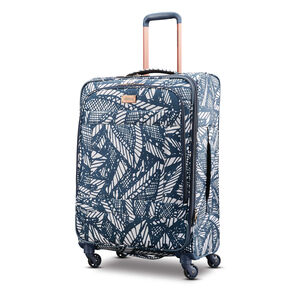 "American Tourister Belle Voyage 25"" Spinner in the color Burst Floral Indigo Sand."