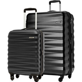American Tourister Triumph NX 2 Piece Set in the color Black.