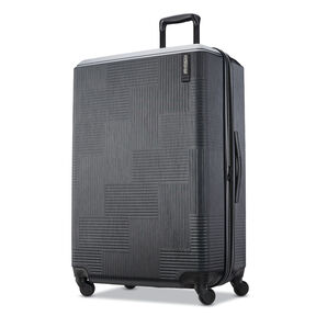"American Tourister Stratum XLT 28"" Spinner in the color Jet Black."