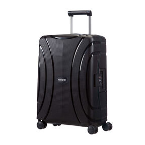 """American Tourister Lock-N-Roll 20"""" Spinner in the color Jet Black."""
