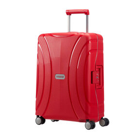 "American Tourister Lock-N-Roll 20"" Spinner in the color Formula Red."