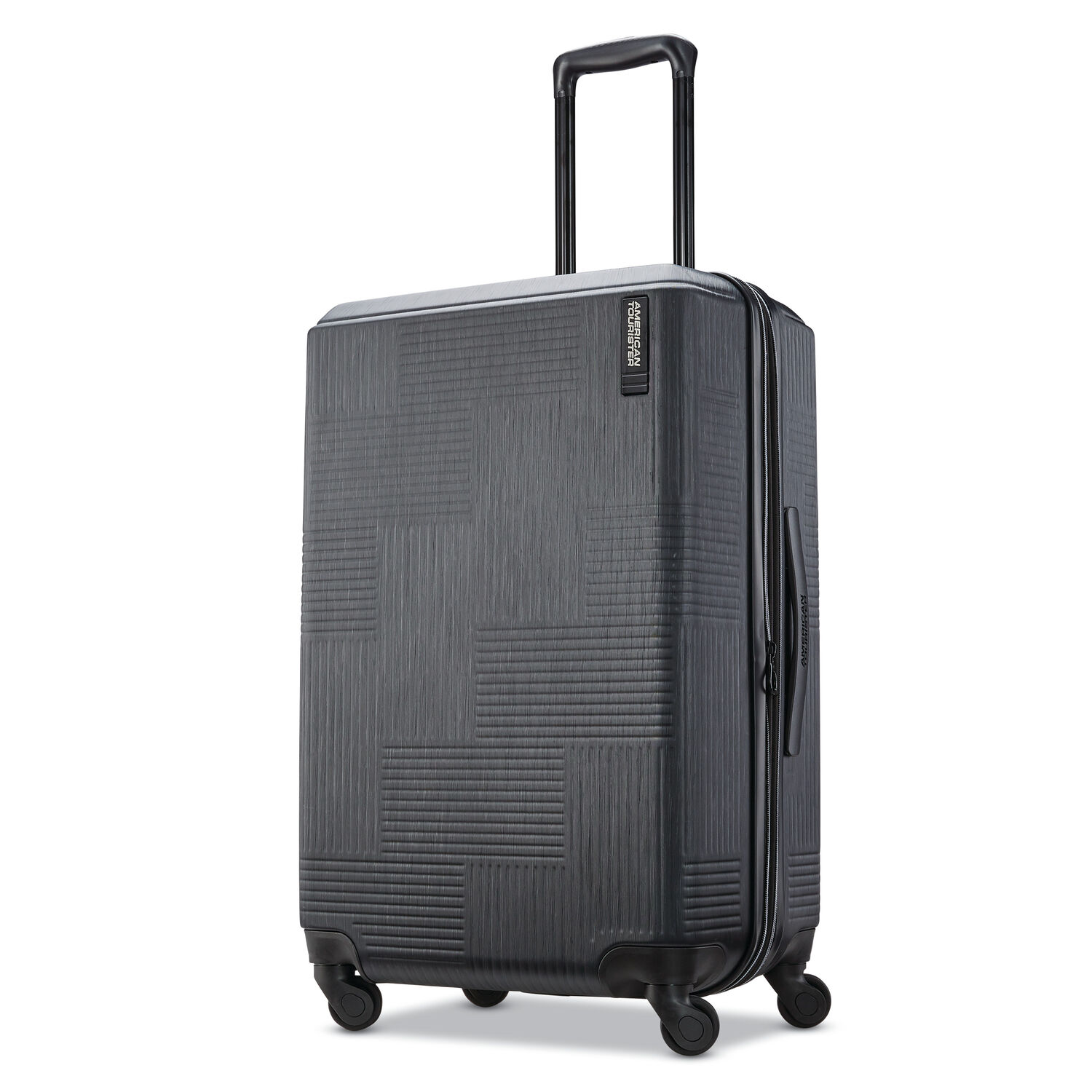 """American Tourister Stratum XLT 24"""" Spinner in the color Jet Black."""