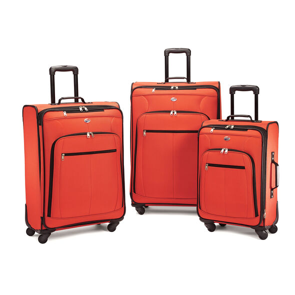 American Tourister Pop Plus 3 Piece Set in the color Orange.