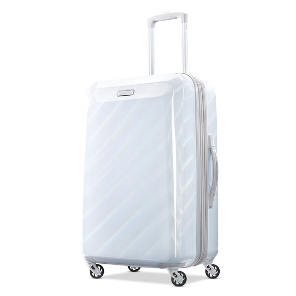 "American Tourister Moonlight 24"" Spinner in the color Iridescent White."